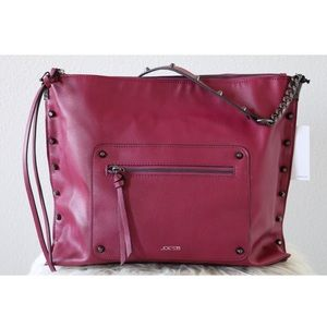 NWT JOE'S BURGUNDY SHOULDER BAG